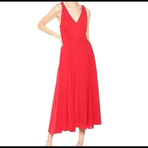 NWT Betsy Johnson Red Crepe Dress w/Shoulder Ties